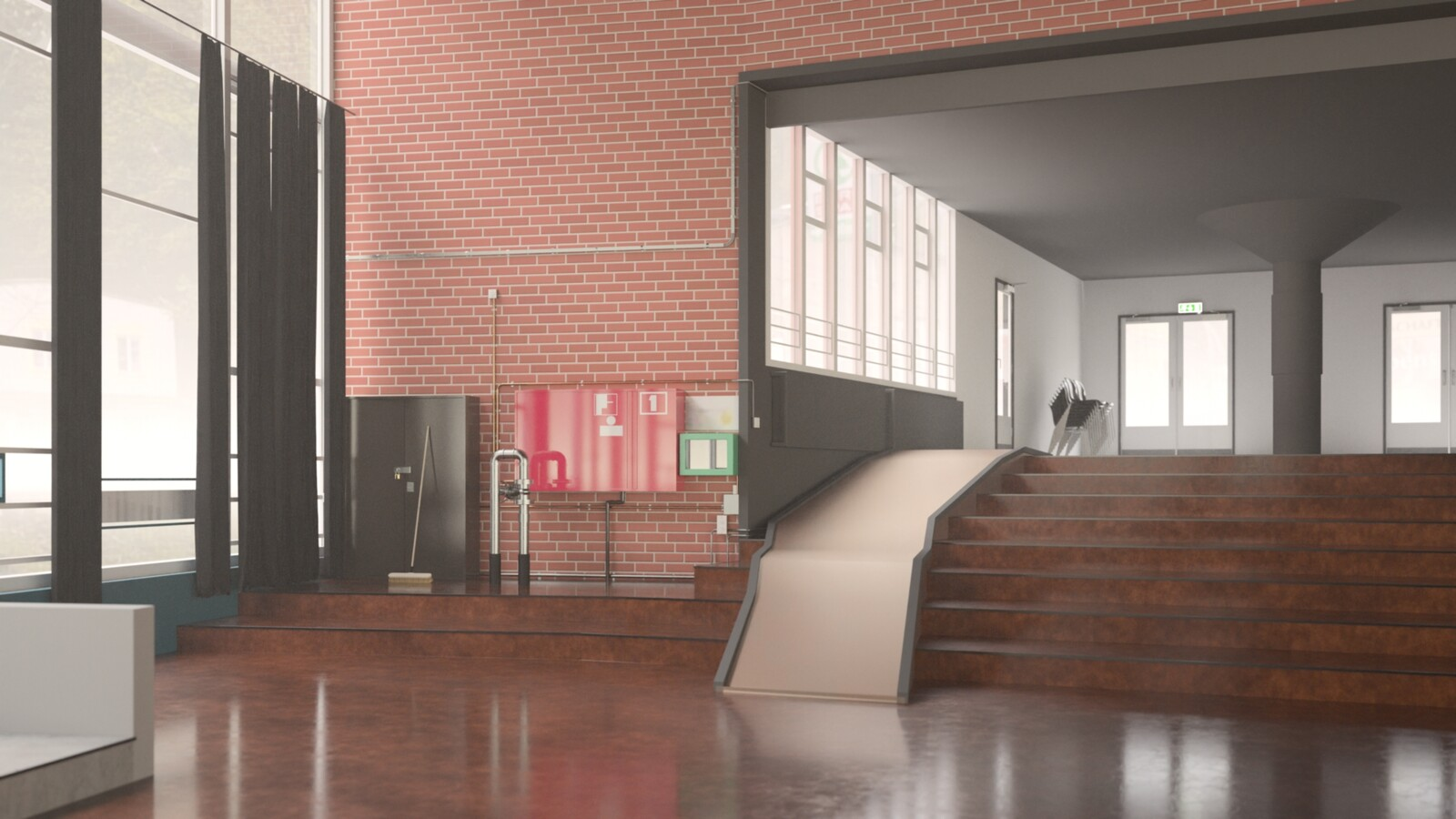 SketchUp 2021 + Thea Render V3 Broedplaats LELY (The Lely Incubator) Auditorium Amsterdam Showroom Final-Scene 11 16m48s HD1080 1536sp