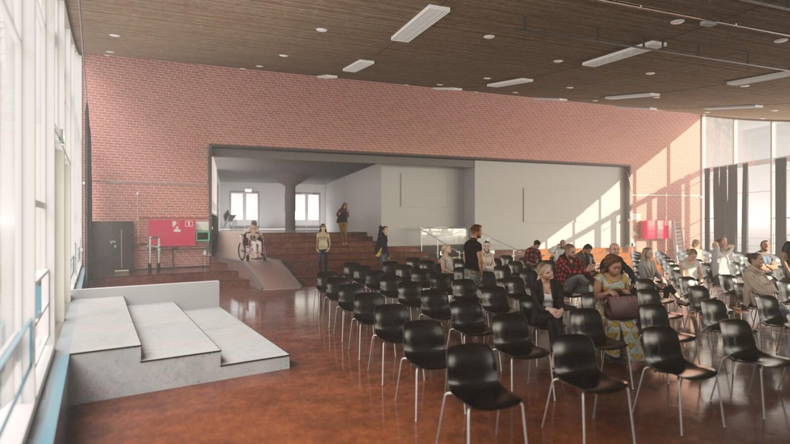 SketchUp 2021 + Thea Render V3 Broedplaats LELY (The Lely Incubator) Auditorium Amsterdam Showroom Final-Scene 13B 20m05s HD1080 1536sp