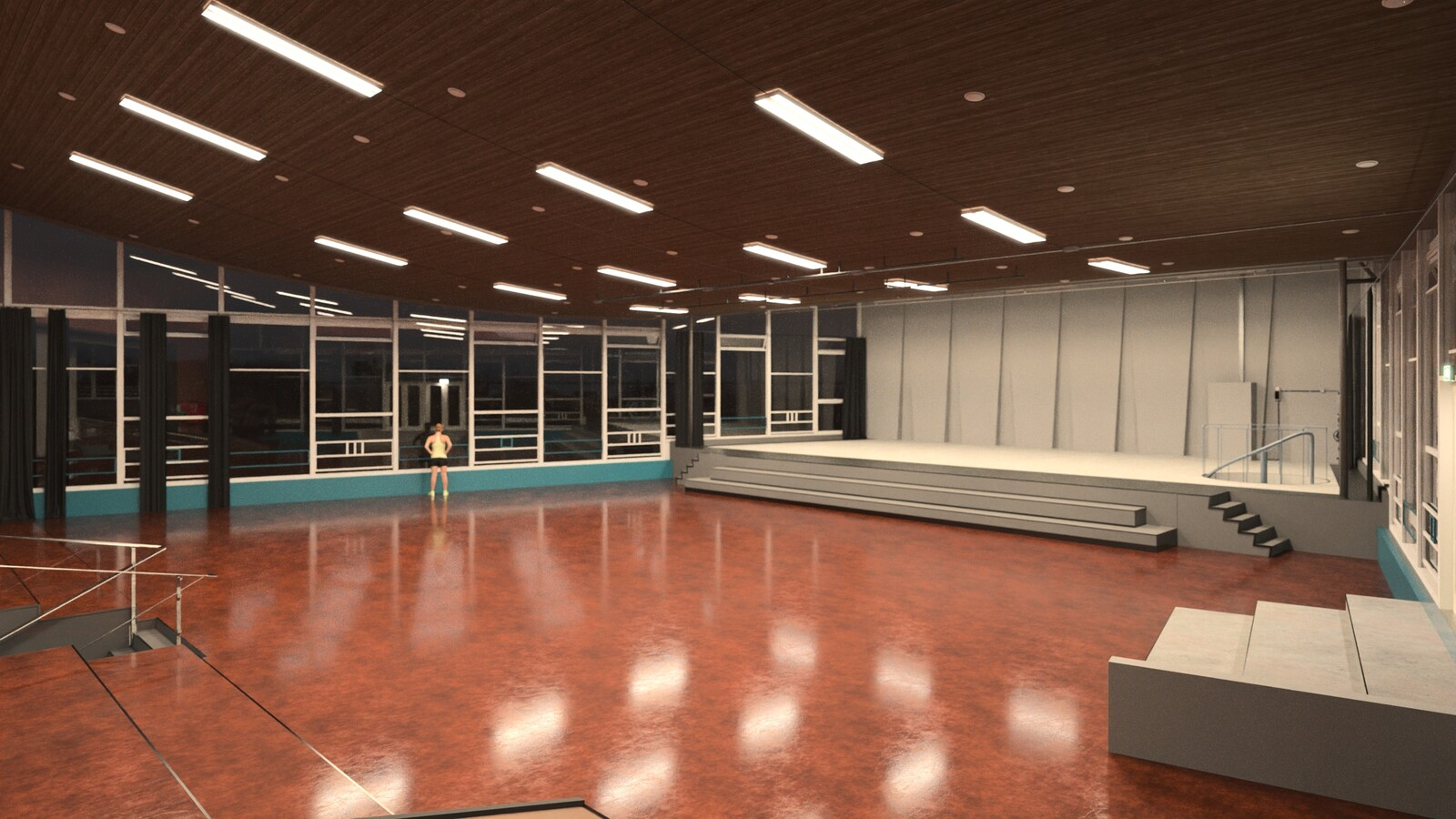 SketchUp 2021 + Thea Render V3 Broedplaats LELY (The Lely Incubator) Auditorium Amsterdam Showroom-Scene 20 17m49s HD1080 1536sp