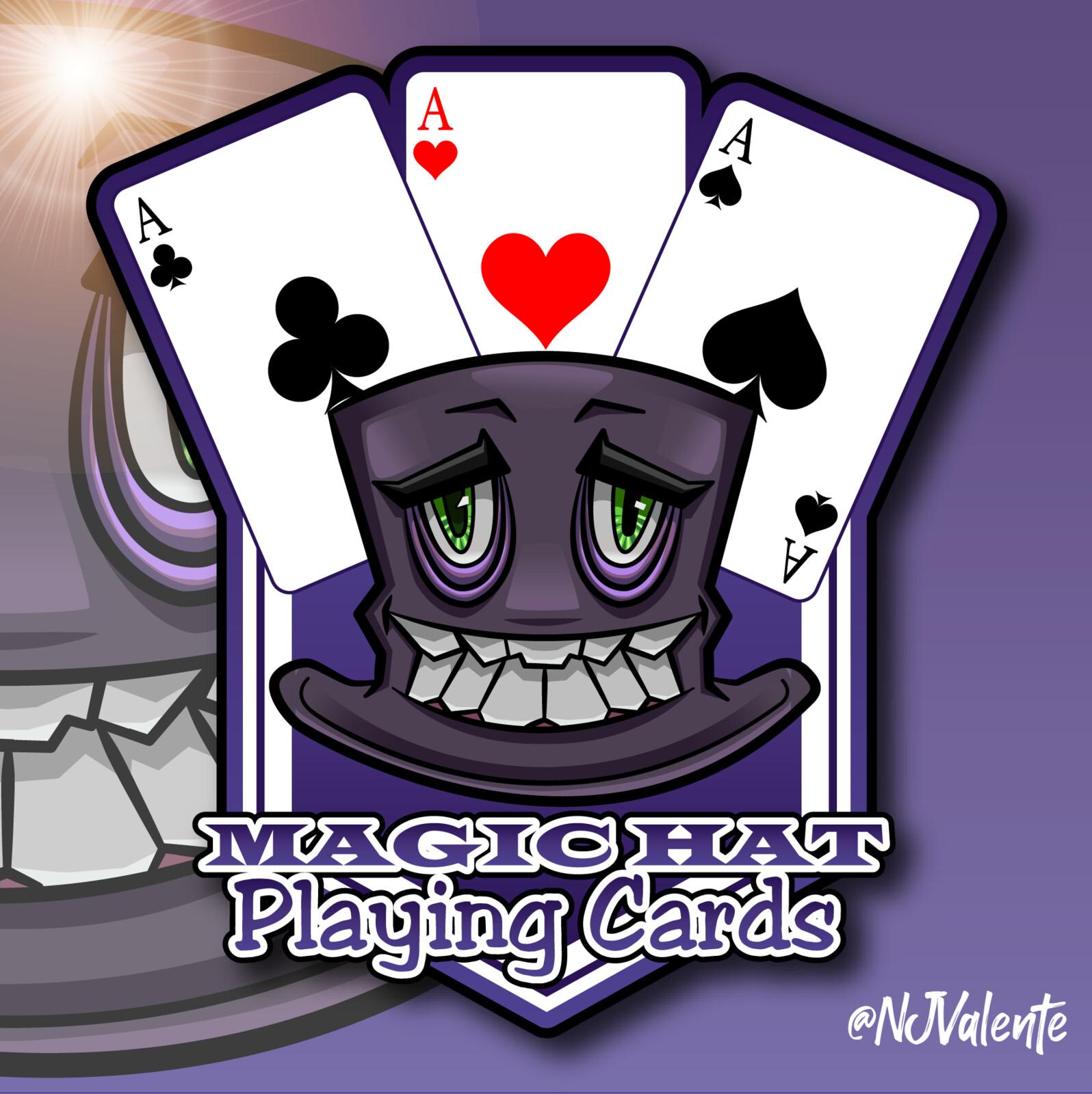 Magic Hat Playing Cards Logo