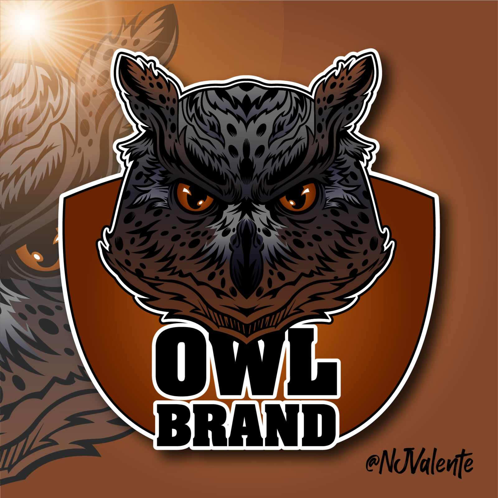 Owl Brand Mascot Logo