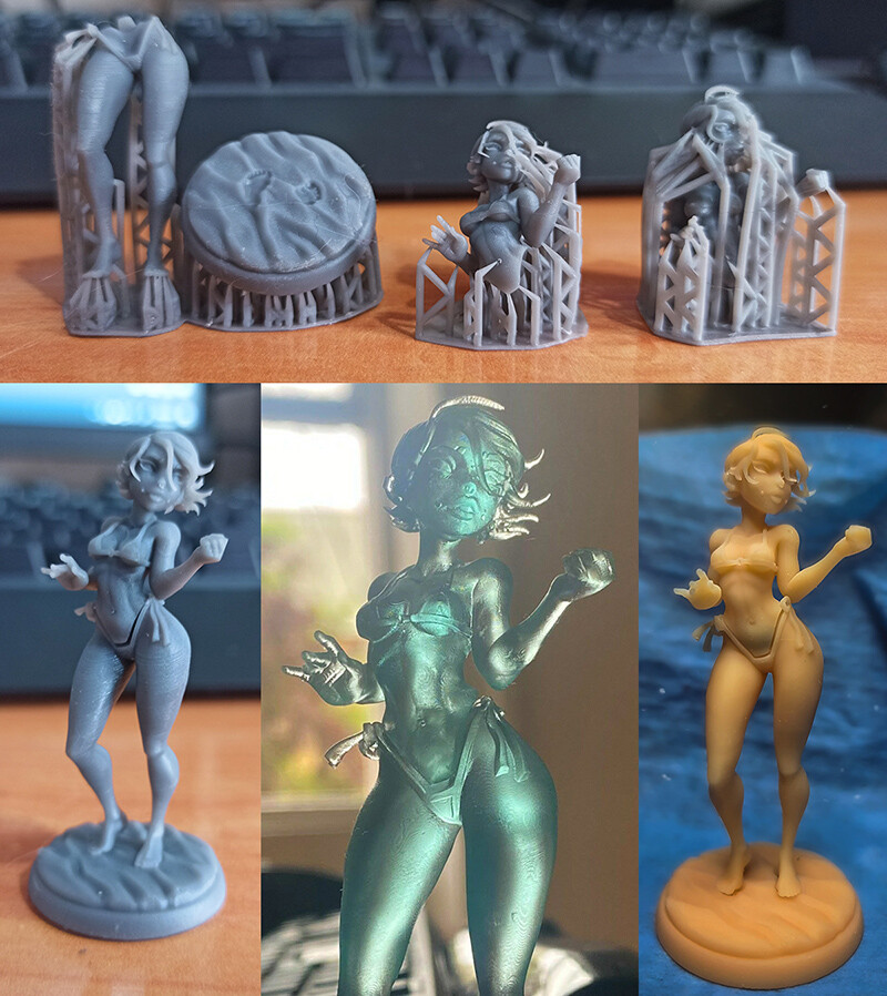 Some of the first prints of her. :)