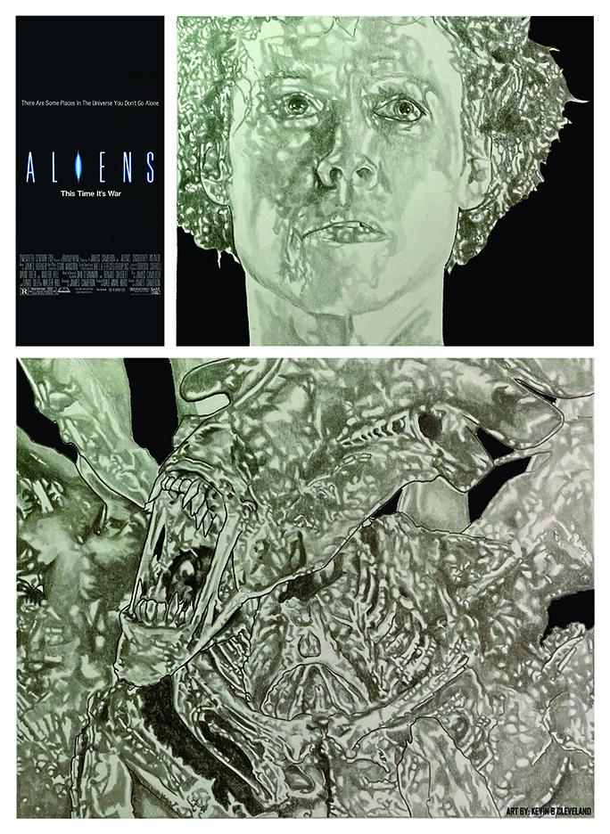 Aliens 1986 movie poster mock up