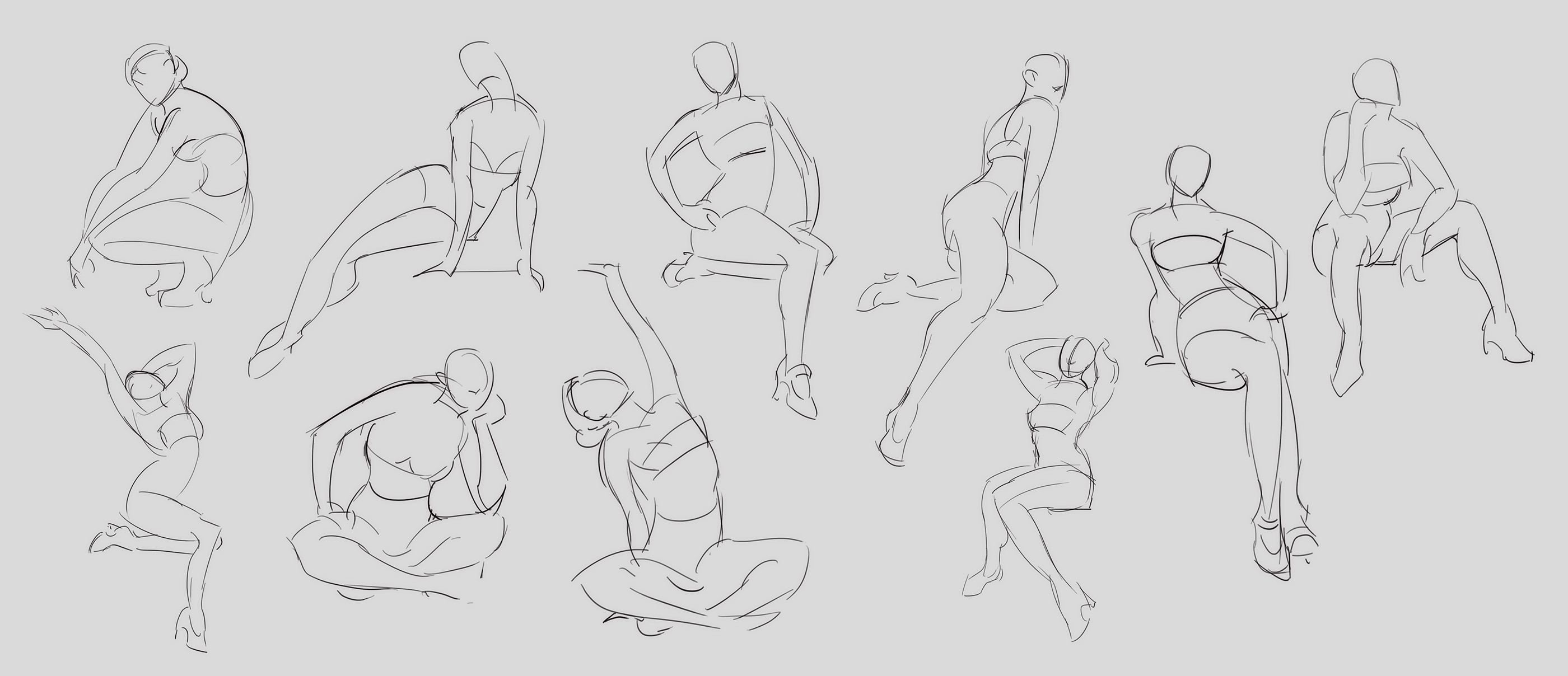 Gestures because who doesn't like drawing from live models!!!!!