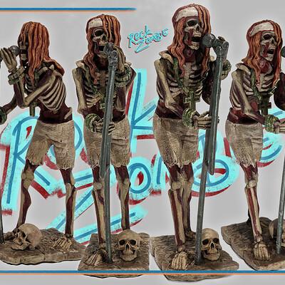 Bradley morgan johnson rock zombie 2nd print and paint