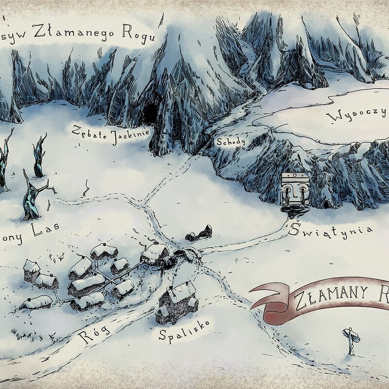 Winter scenery map commission