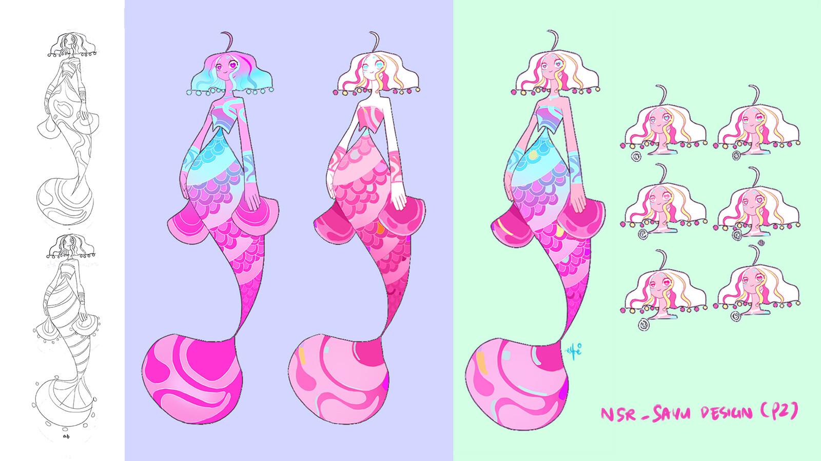 Sayu (digital idol) concept art