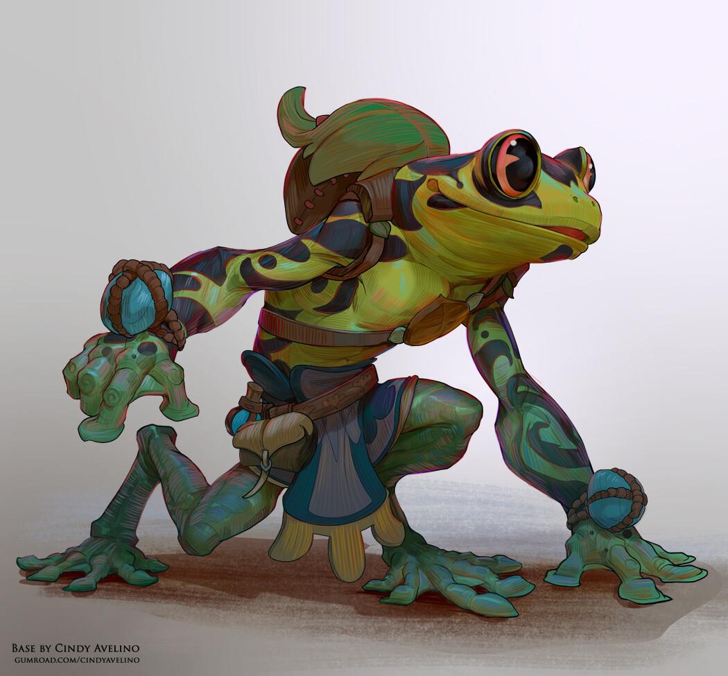 Froggies I did using my Base: https://cindyavelino.gumroad.com/l/frogfolk