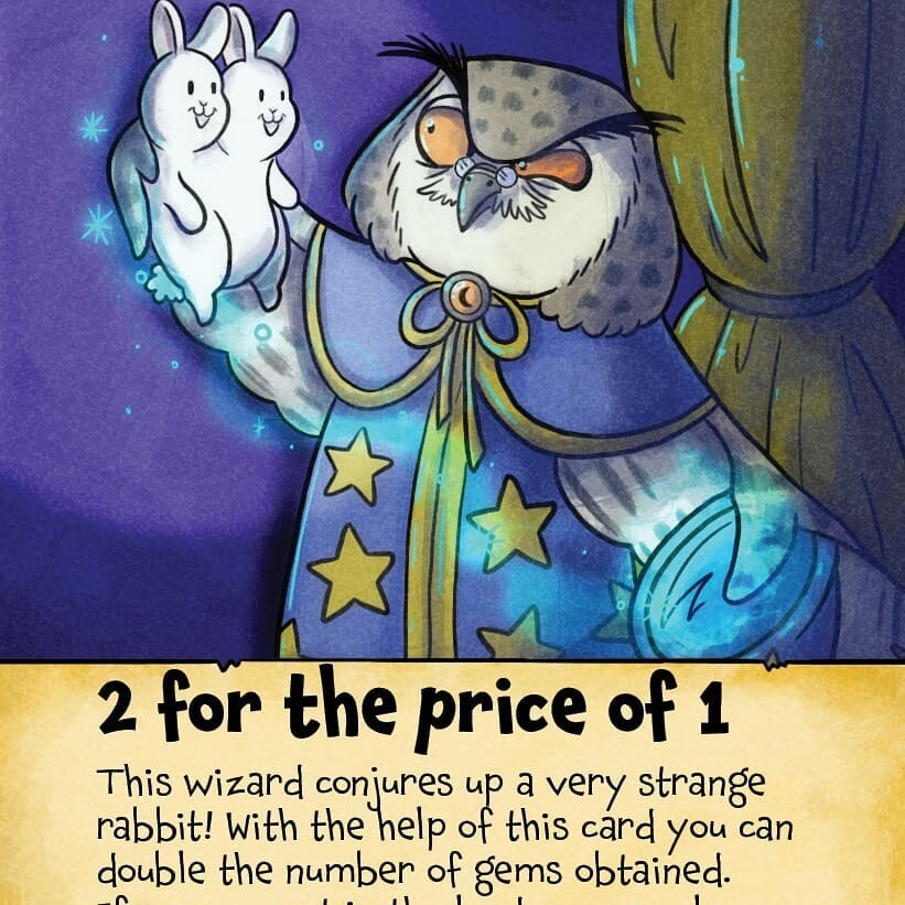 """""""Two for the Price of One"""" card illustration.  Created for the boardgame King's Trial by Laughing Hyena Games.  (www.laughinghyenagames.com)  © 2020"""