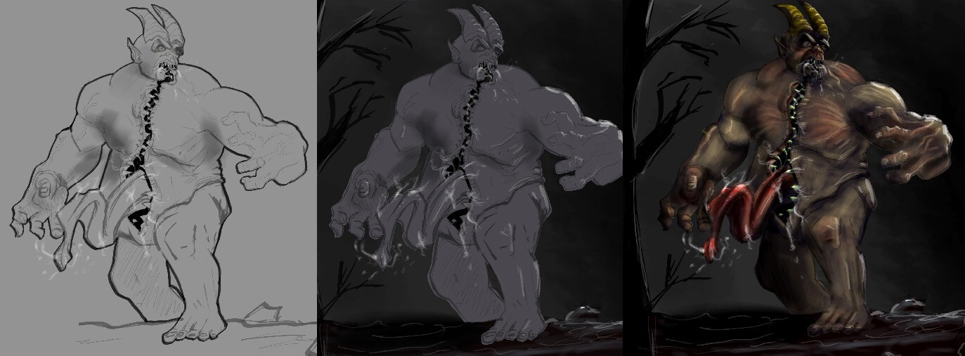 Sort of the process with researching lots of references.