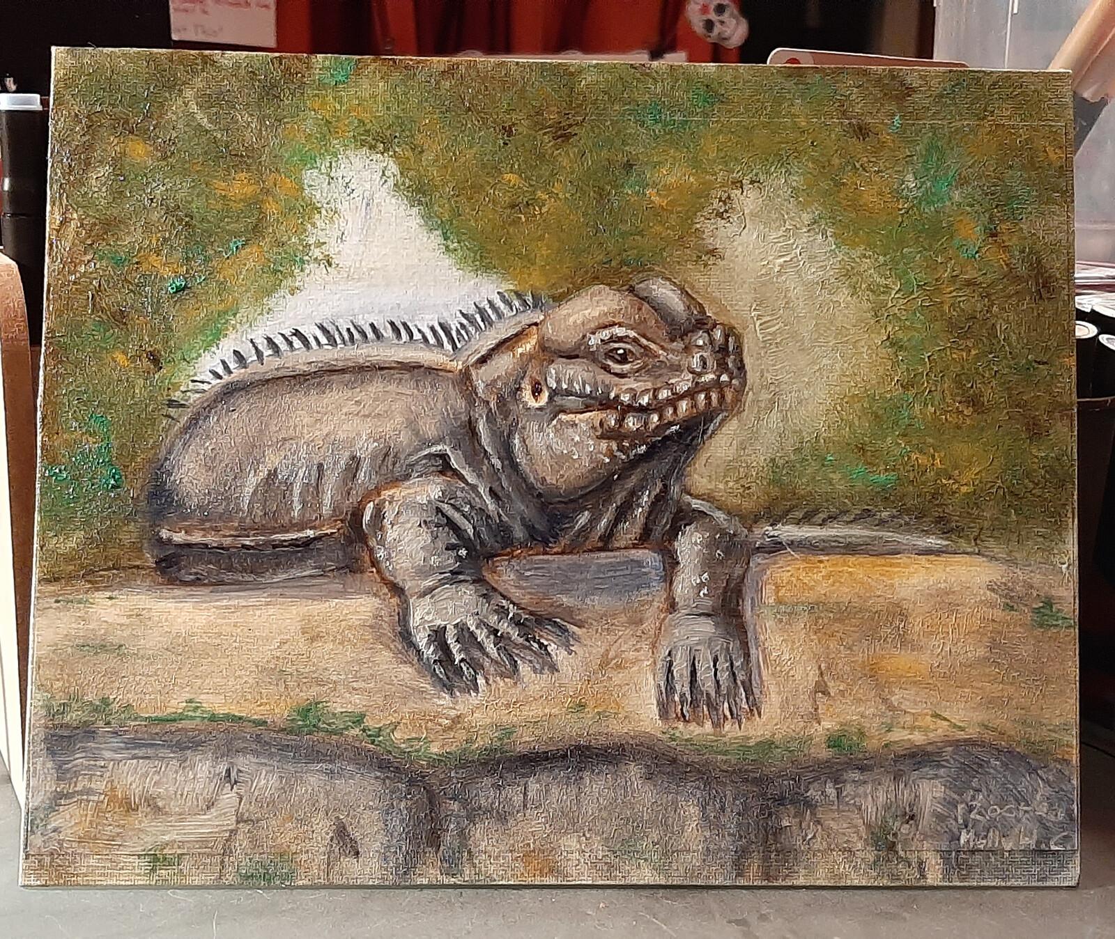 Oil Study: Rhino Iguana (2021)