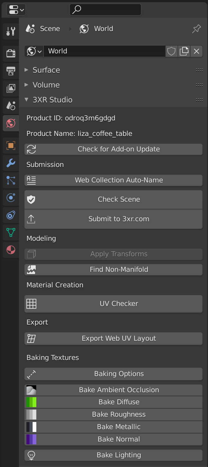 Latest UI of the 3XR Blender Add-On Available for Download