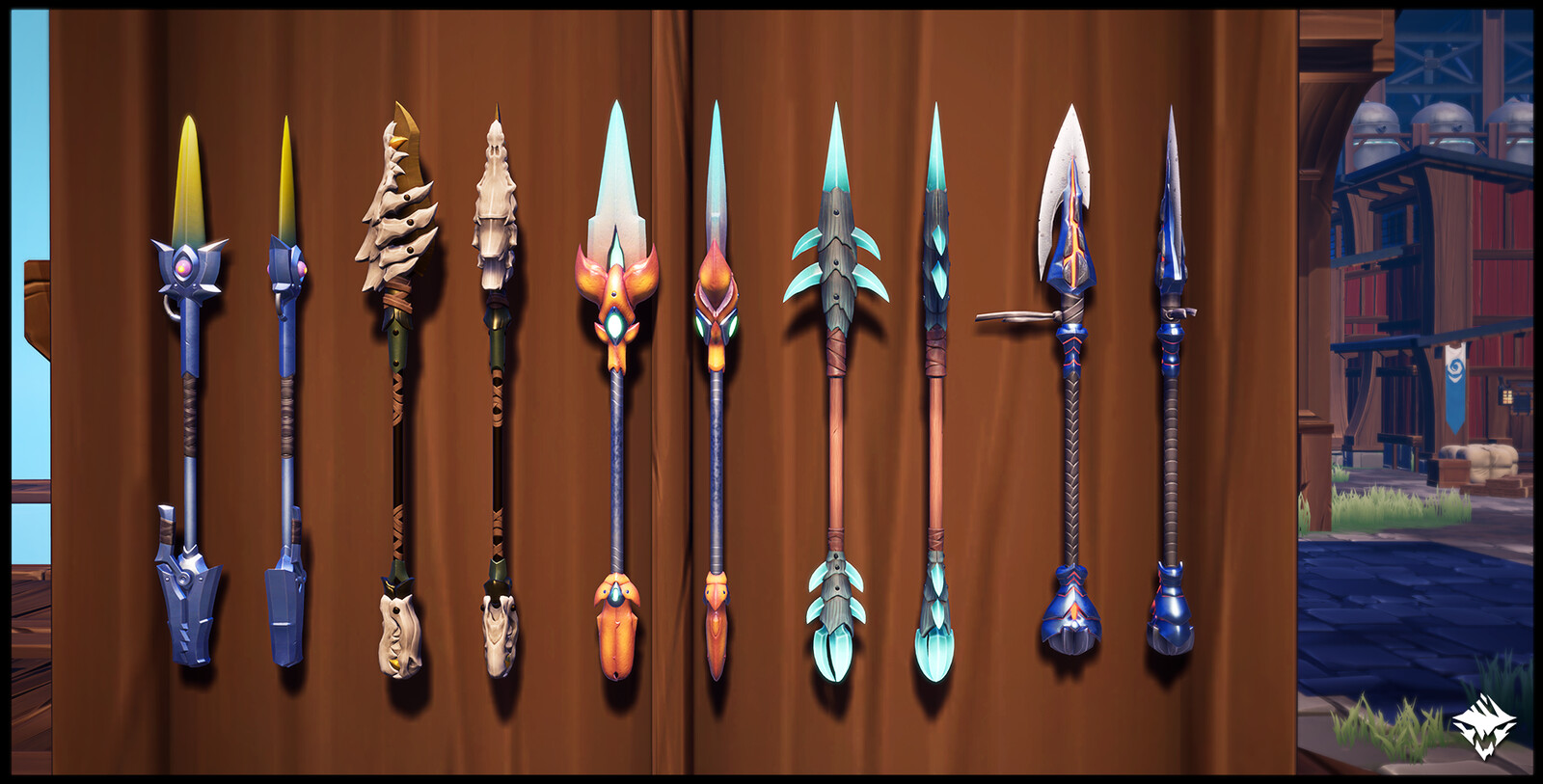 Nayzaga's Fang (Craftable), The Barracuda (MTX), Kharabak's Sting (Craftable), Quillshot's Javelin (Craftable), Charred Spear (Craftable)