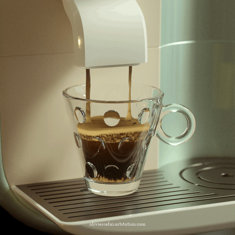 Expresso with Crema animation