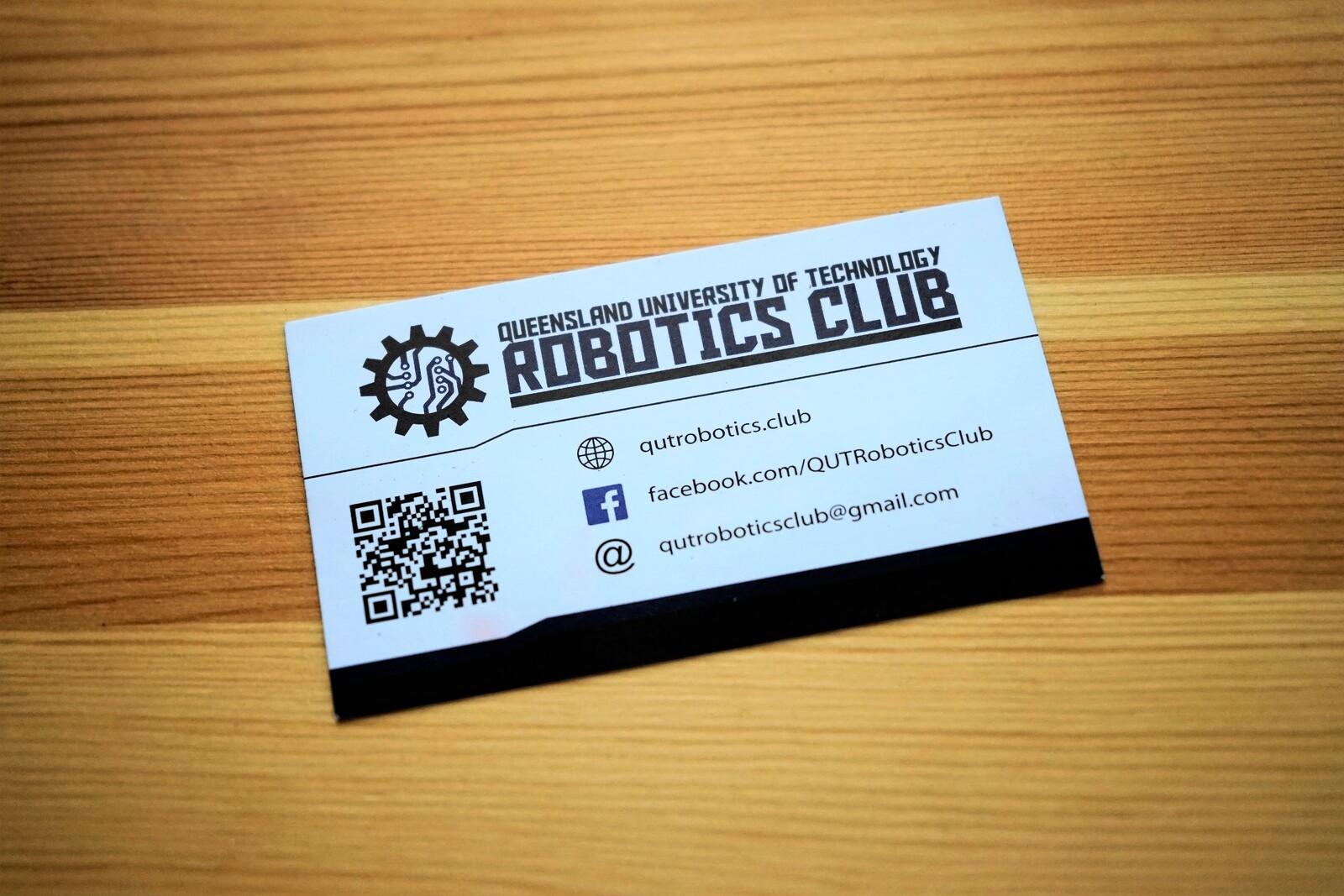 QUT Robotics Club Business Cards