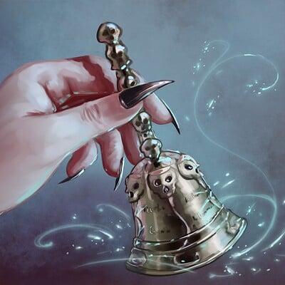 Magical kaleidoscope hand bell
