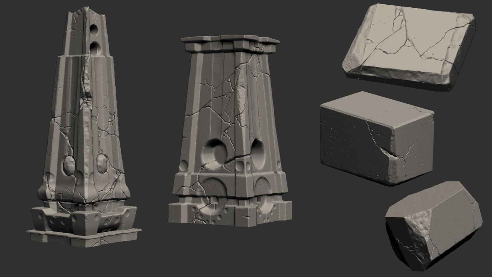 Zbrush Sculptures
