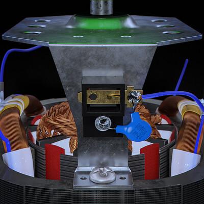 Idris oulmane electric motor closeup render01