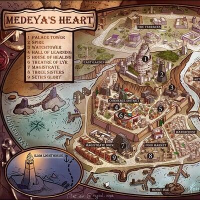 Magical kaleidoscope map medeya s heart