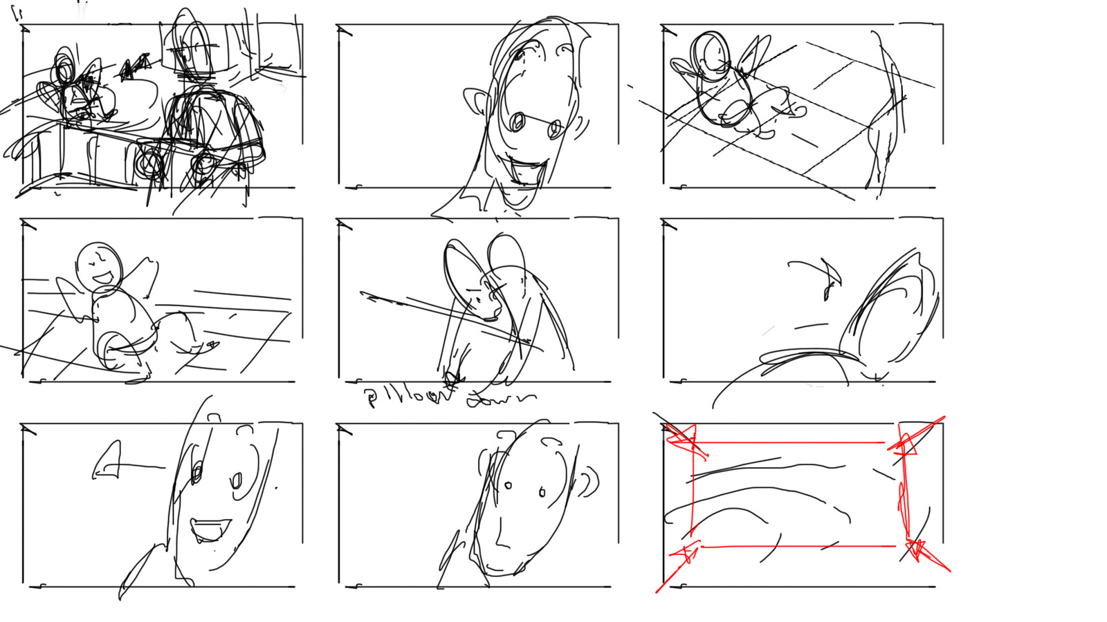 Quick thumbnail sketches