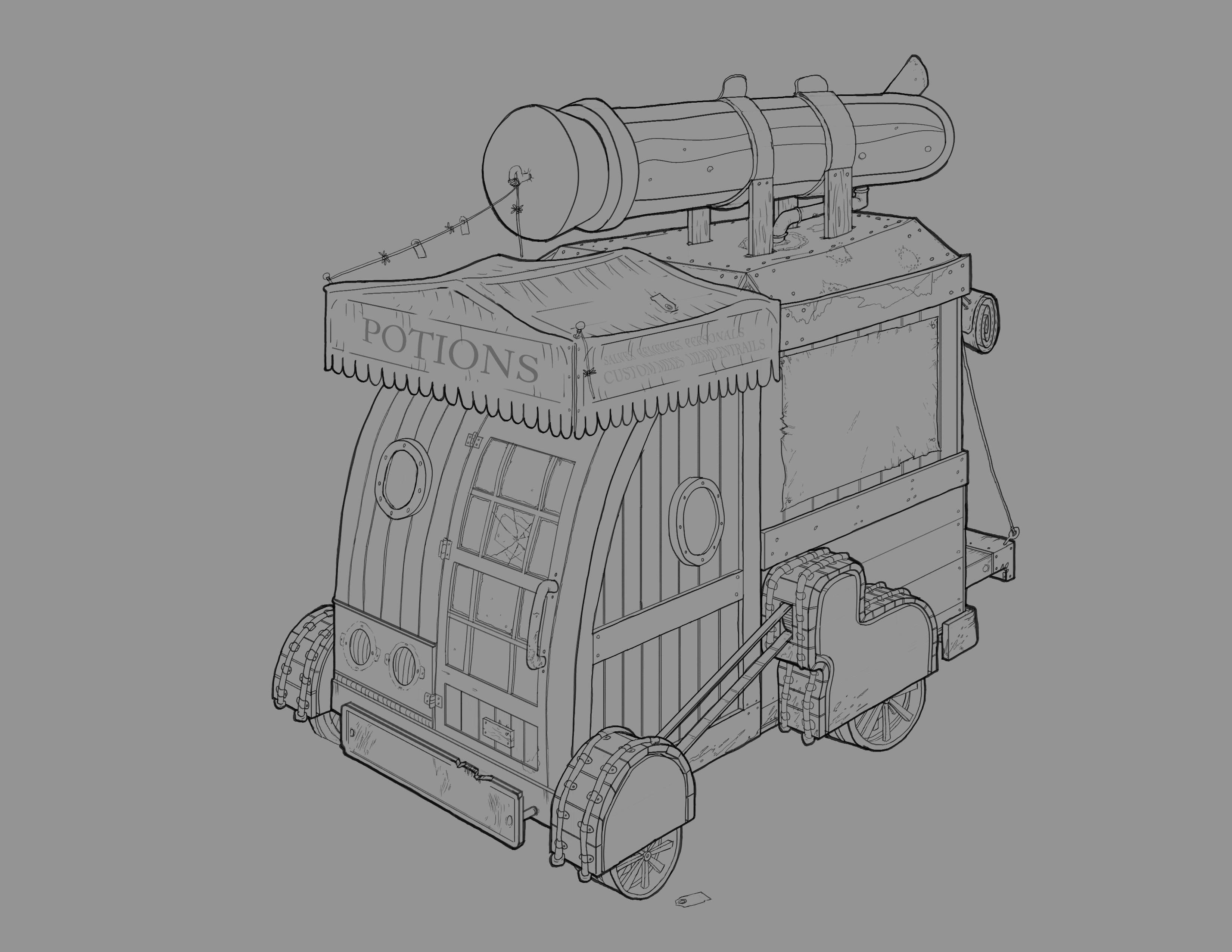 Line art only of the vehicle exterior.