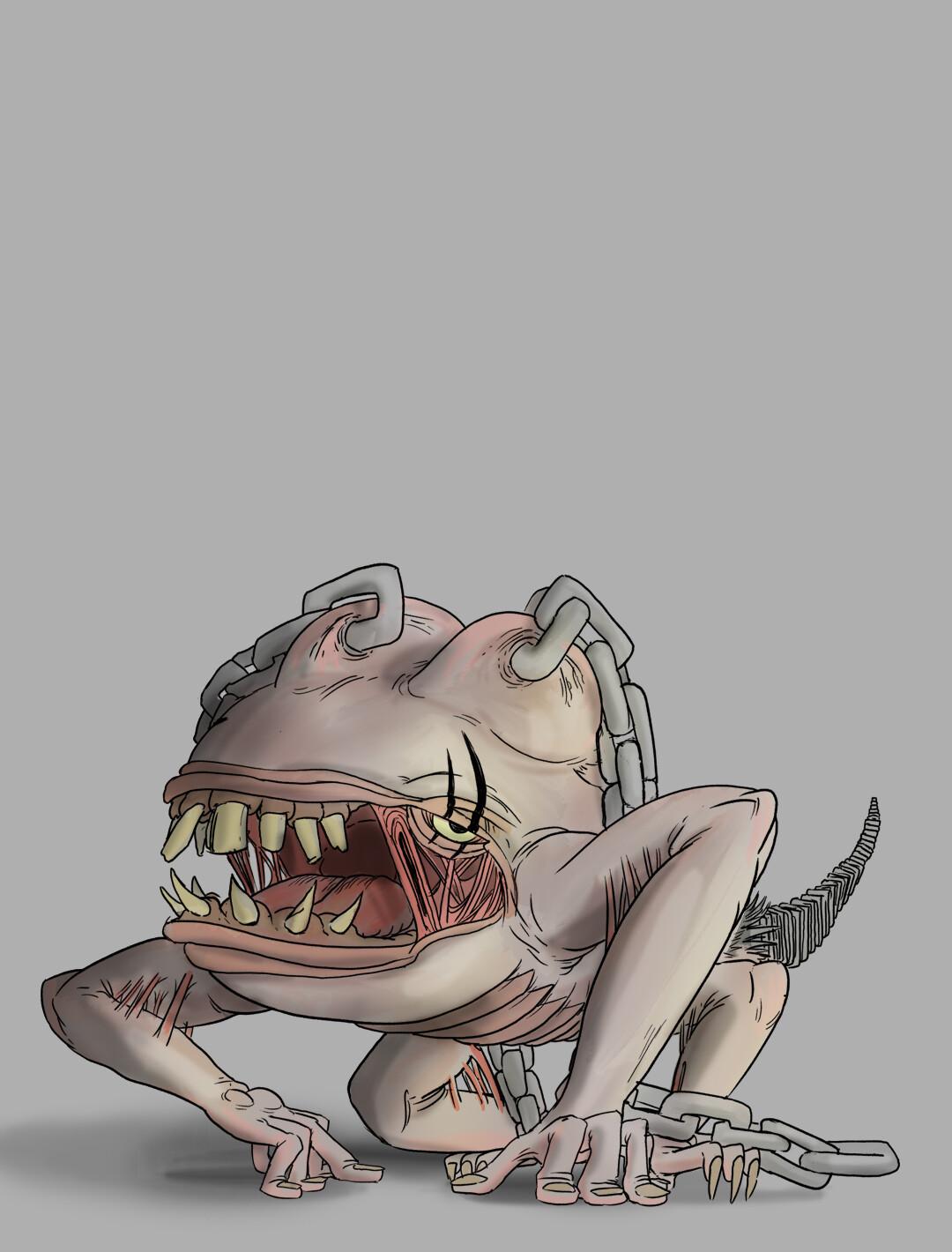 Antagonist drawing/render.