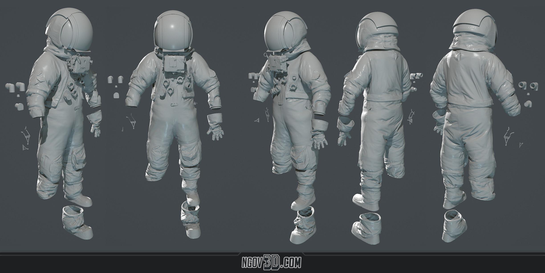 Suit Highpoly Sculpt