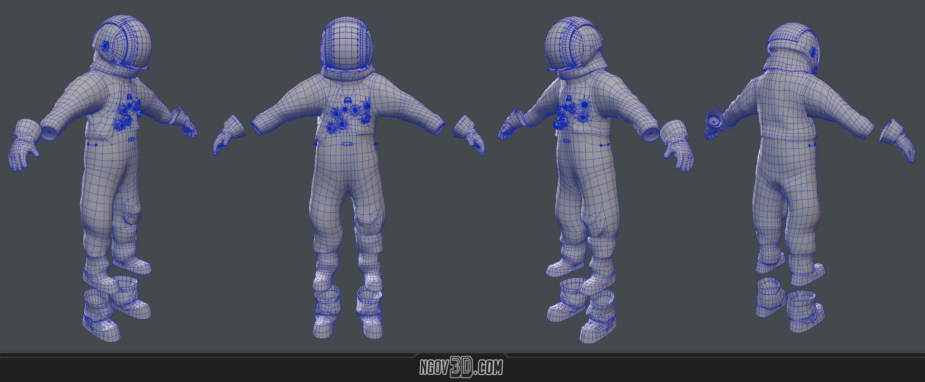 Suit Wireframe