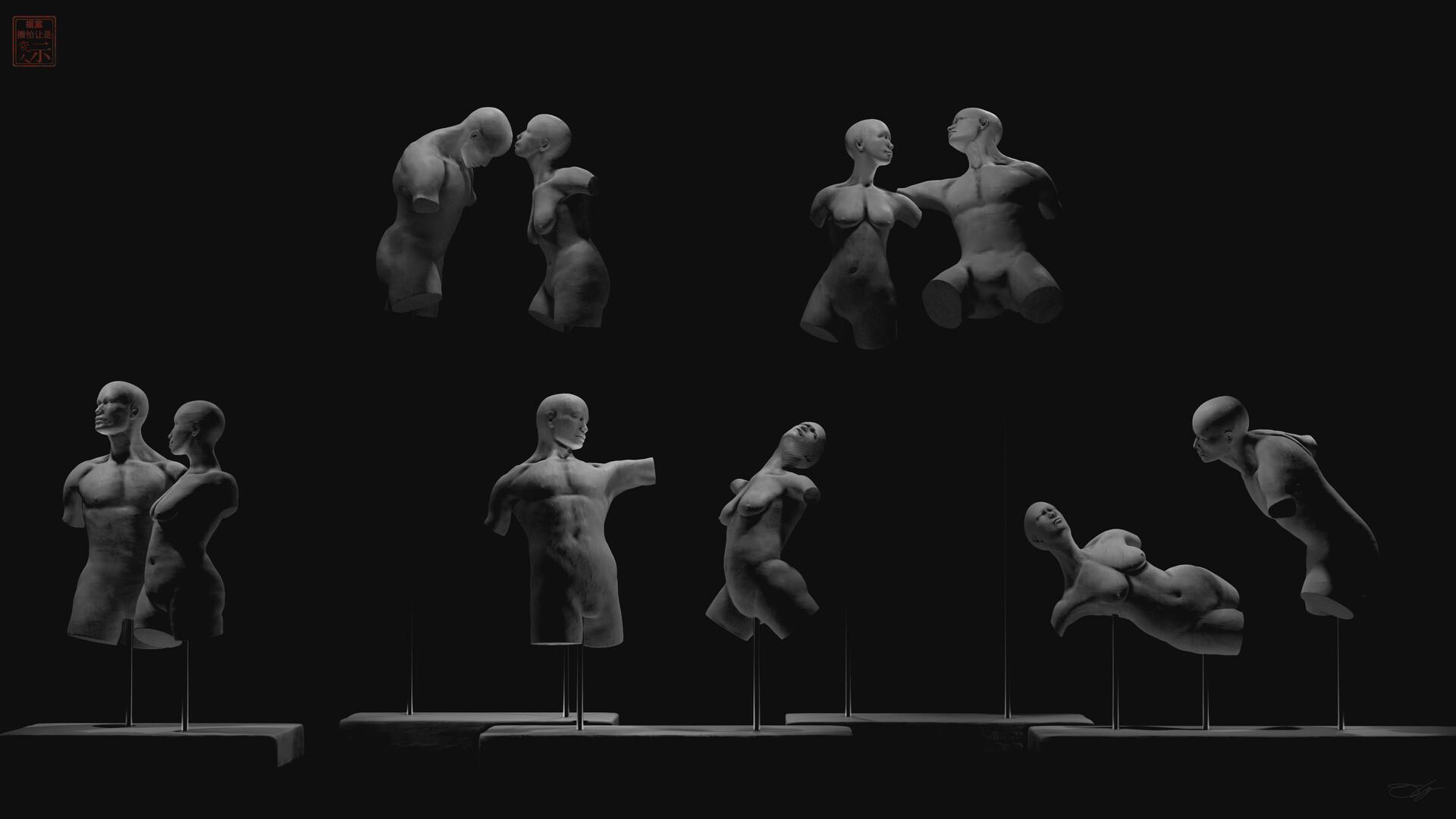 Torso Body Language & Movement Study