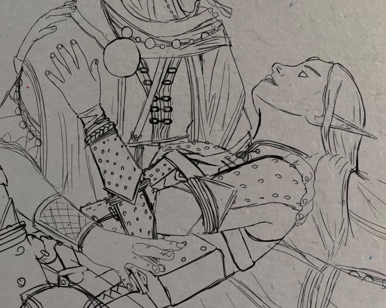Cleaned Sketch - Merisiel detail