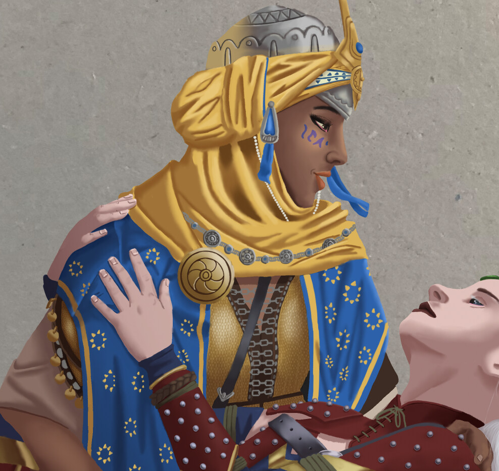 Finished Painting - Kyra detail