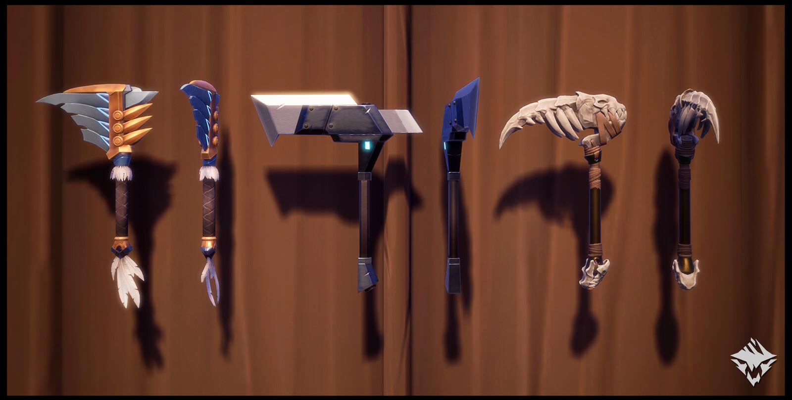 Flight of the Shrike (Craftable), Ostian Chain Blades (MTX), The Pirayas (Hunt Pass: Fortune & Glory)