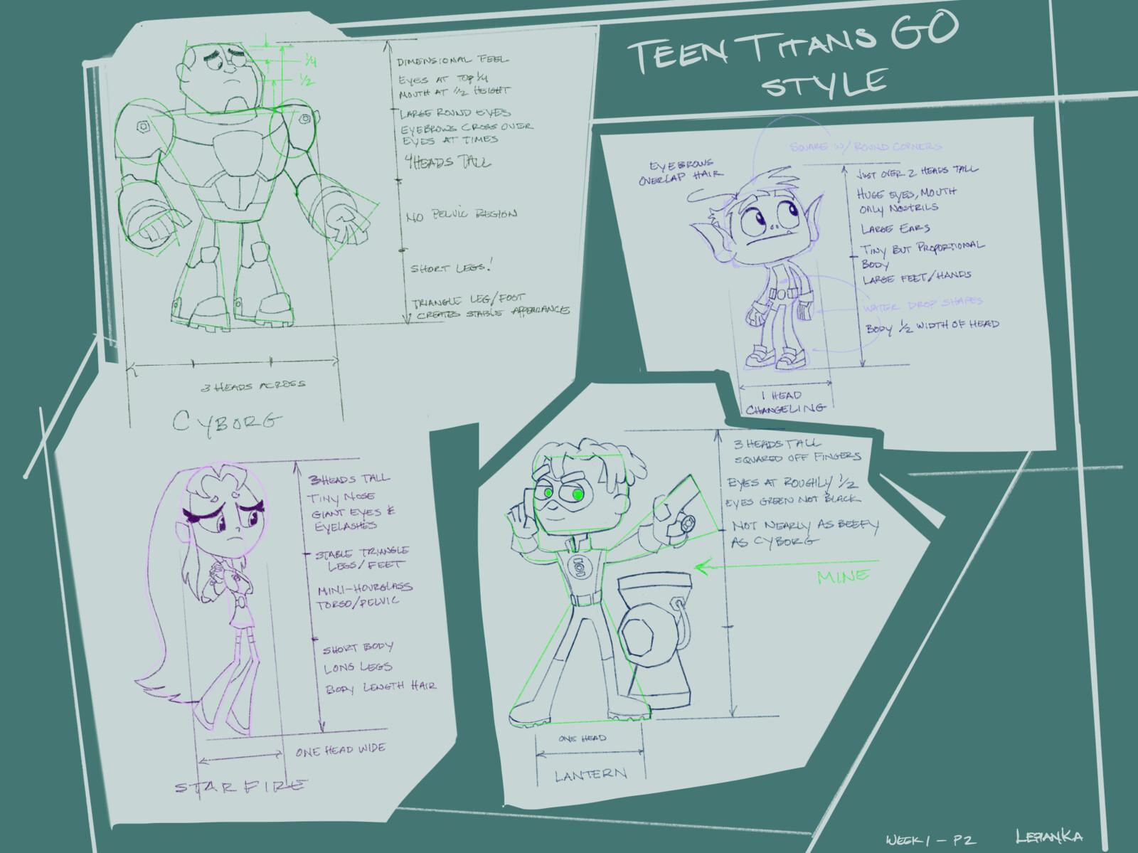 Character Design Intro Class Work-Week 1