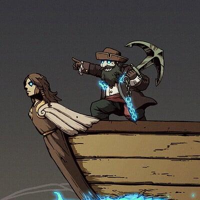 A shipwright ghost ship