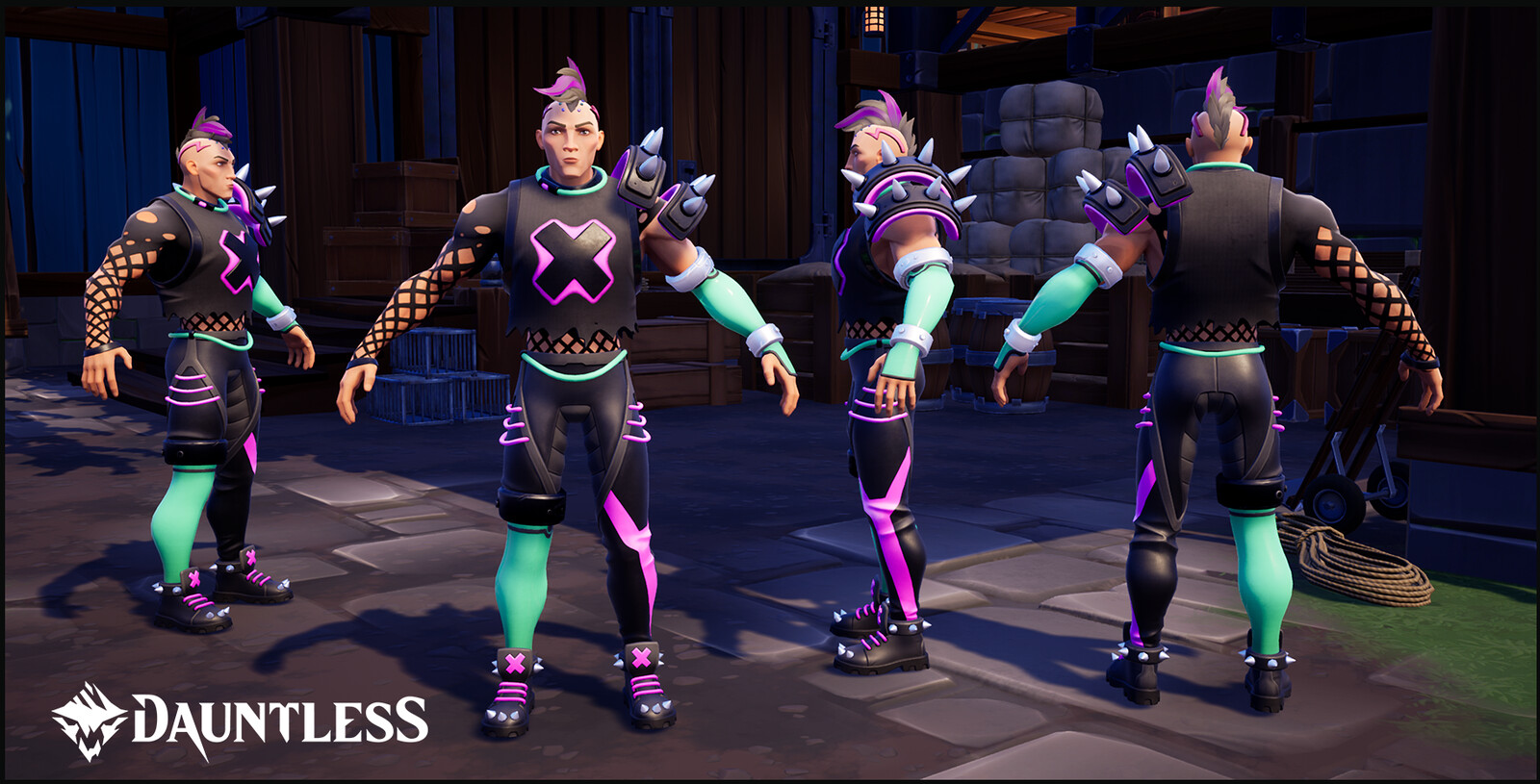 Punk outfit. LVL 1 Hunt Pass reward for the season of Aetherpunk.