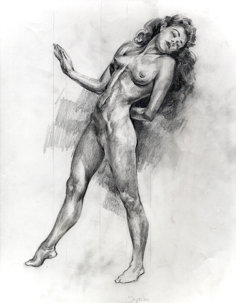 Graphite, master copy after Andrew Loomis