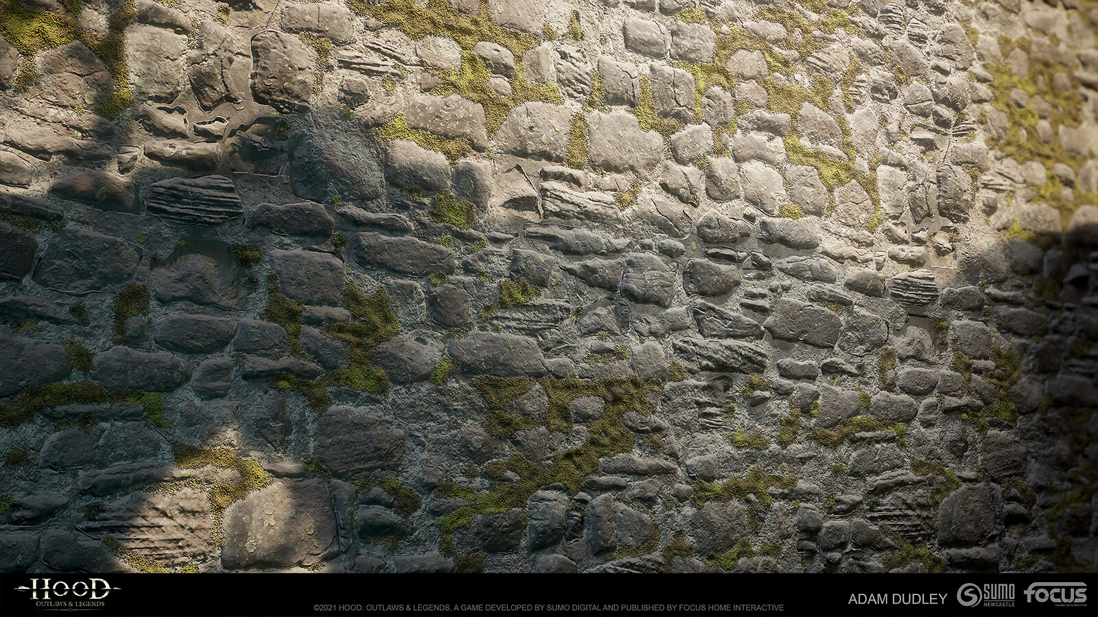 Old stone wall - Photoshop for stone pattern, Substance Designer for everything else