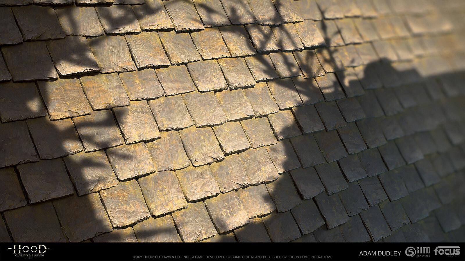 Roof slate tiles