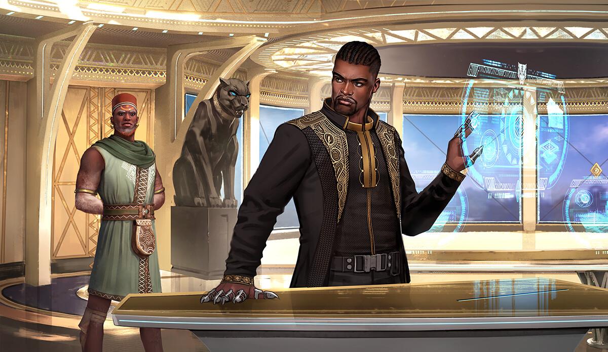 Scene 4: T'Challa in his Lab