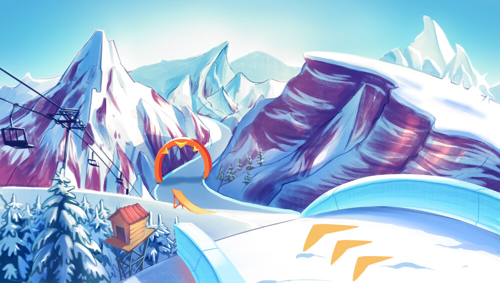 Ski Game - Environment & Props