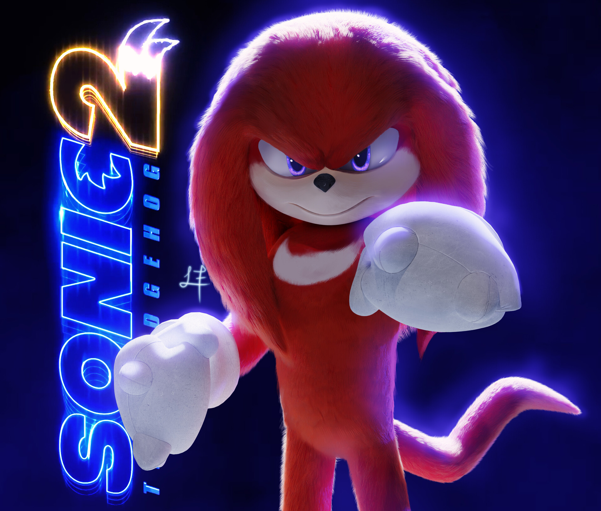ArtStation   Sonic The Hedgehog 20 Movie Knuckles, Leroy Fernandes
