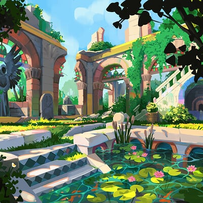 Anya jo elvidge archways painting 2
