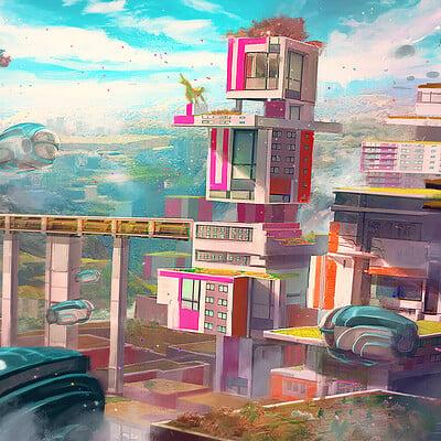 Anh le future city print