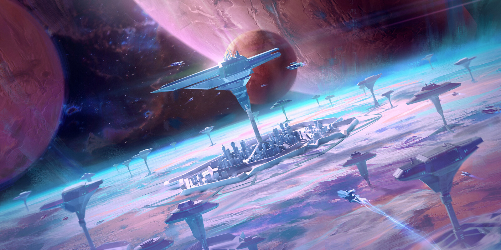 Spaceports On a Planet