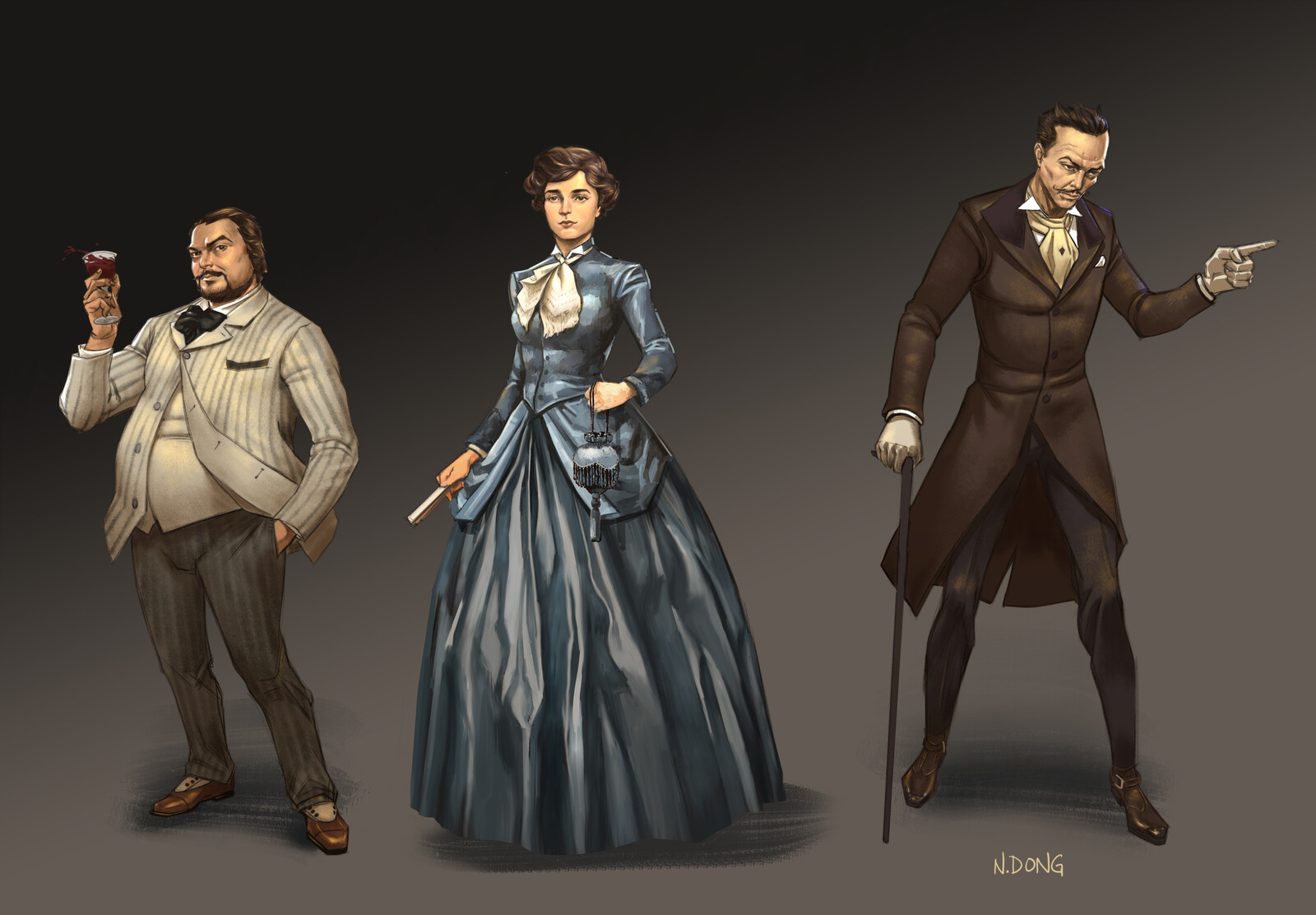 Victorian Tycoon Character Design