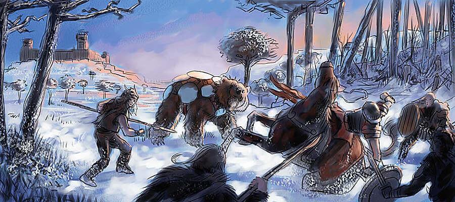 Snow Battle Sketch