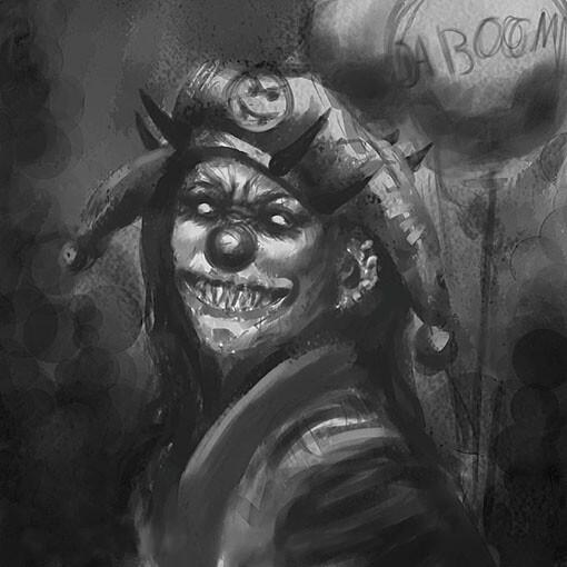 Crazy Clown Sketch