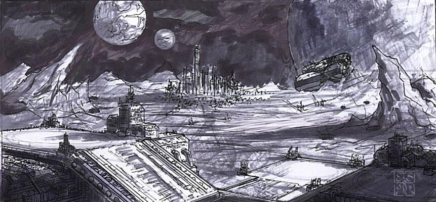 Spaceport Sketch