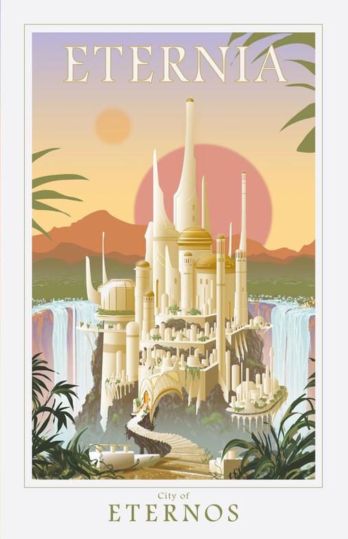 ETERNIA - Eternos - travel poster