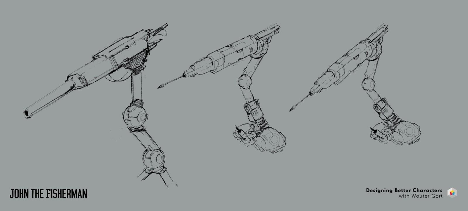 harpoon sketch